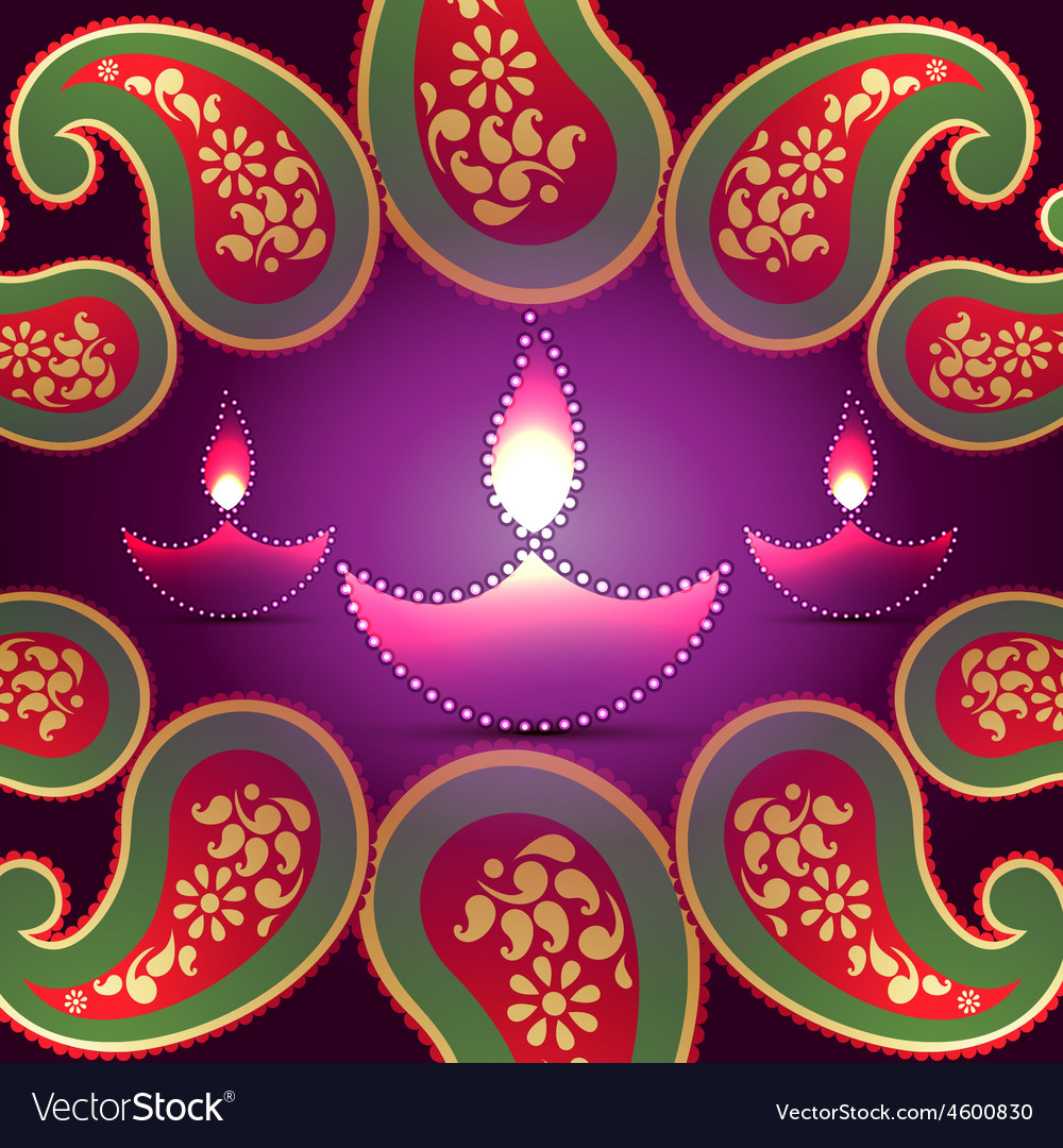 Stylish diwali background