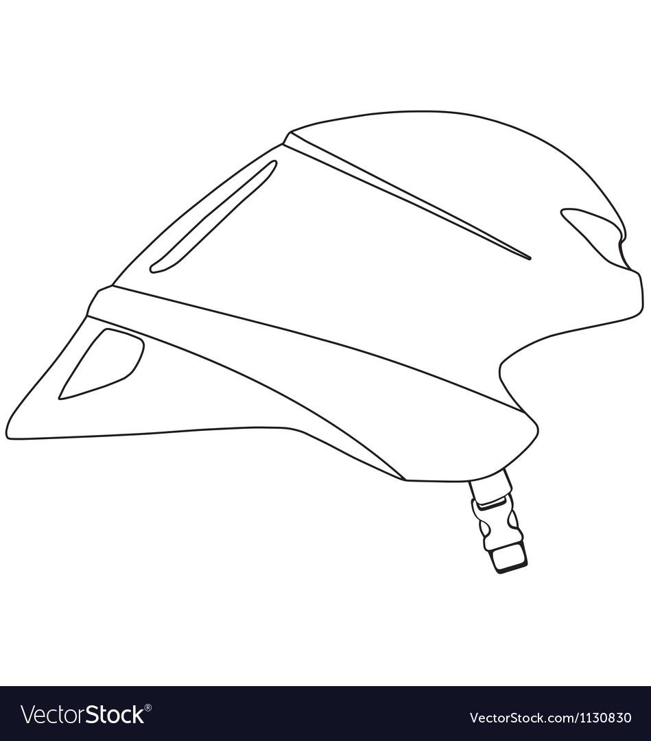 Time trial cycle helmet vector image