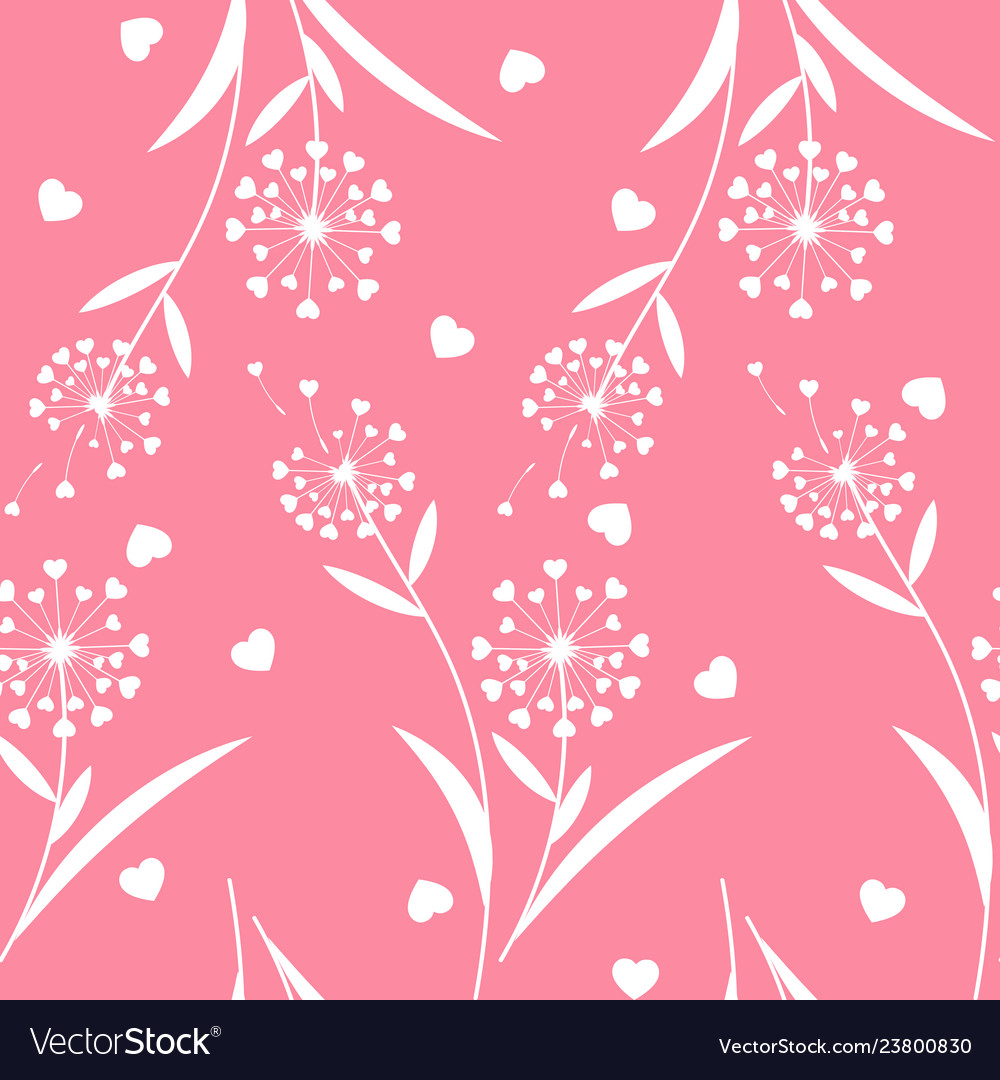Valentines floral seamless pattern