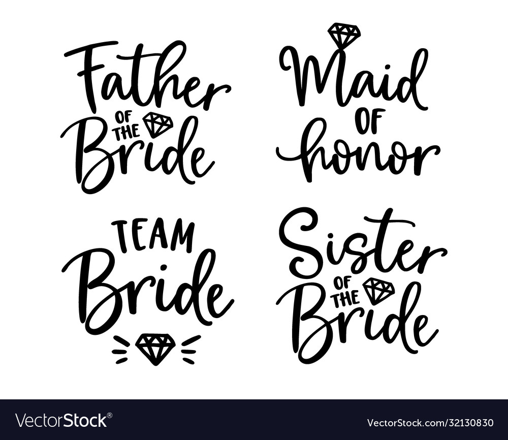 Wedding lettering set black hand lettered quotes
