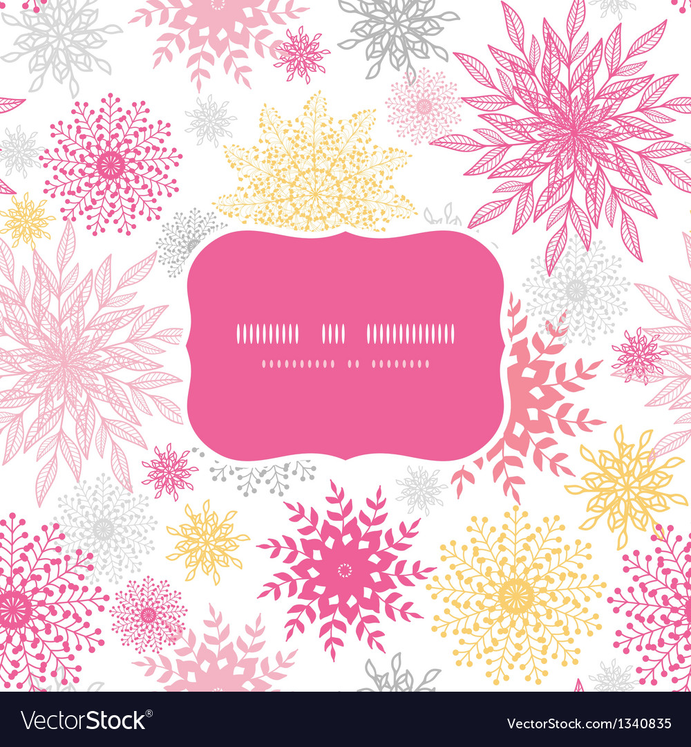 Abstract floral vignettes frame seamless pattern vector image