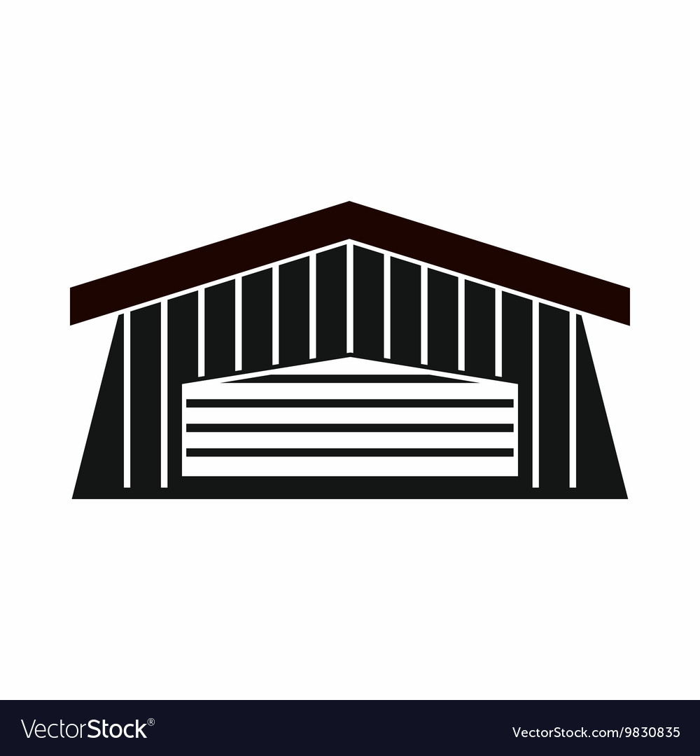 Barn icon simple style vector image