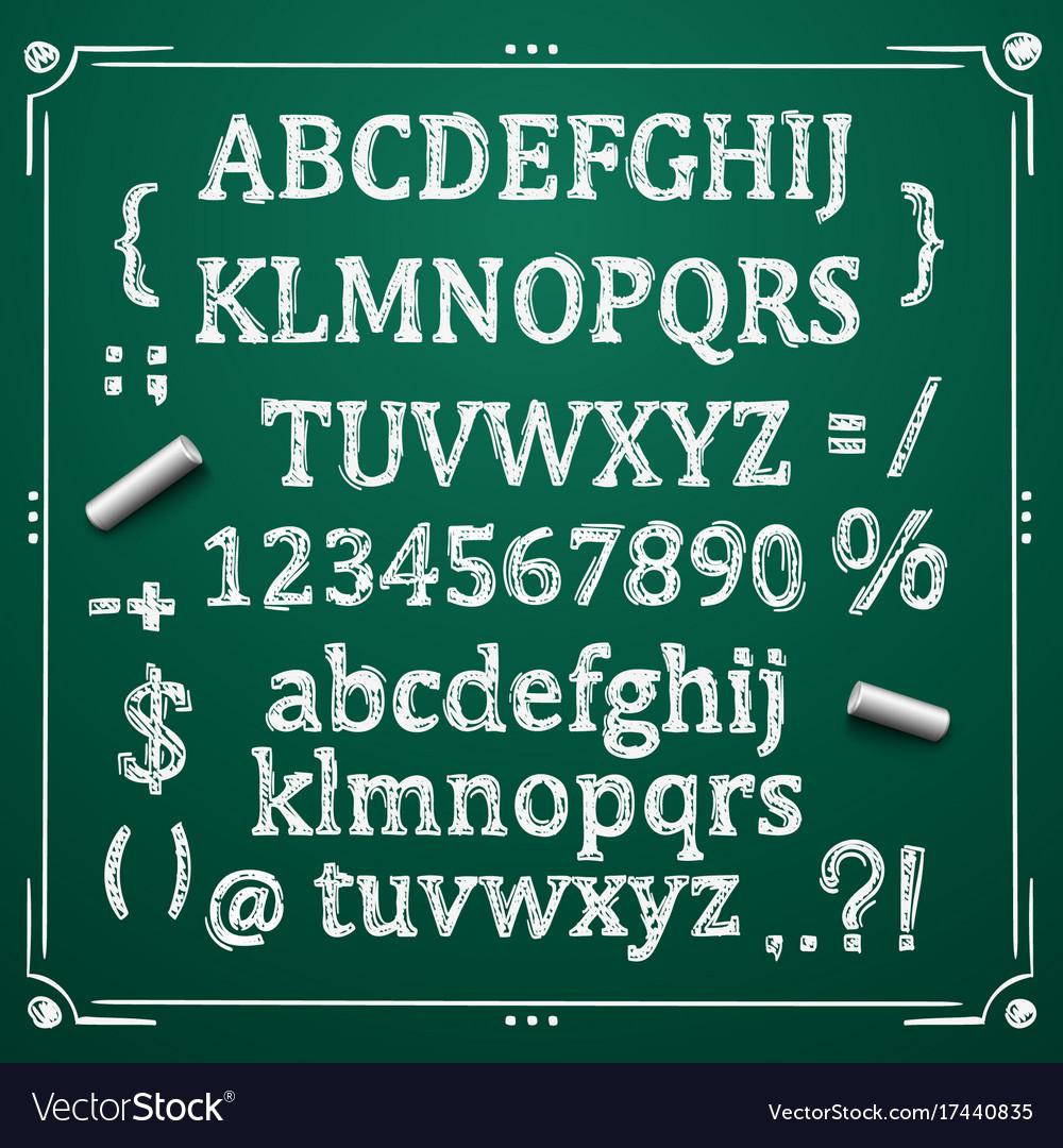 Board with a set of sketch symbols
