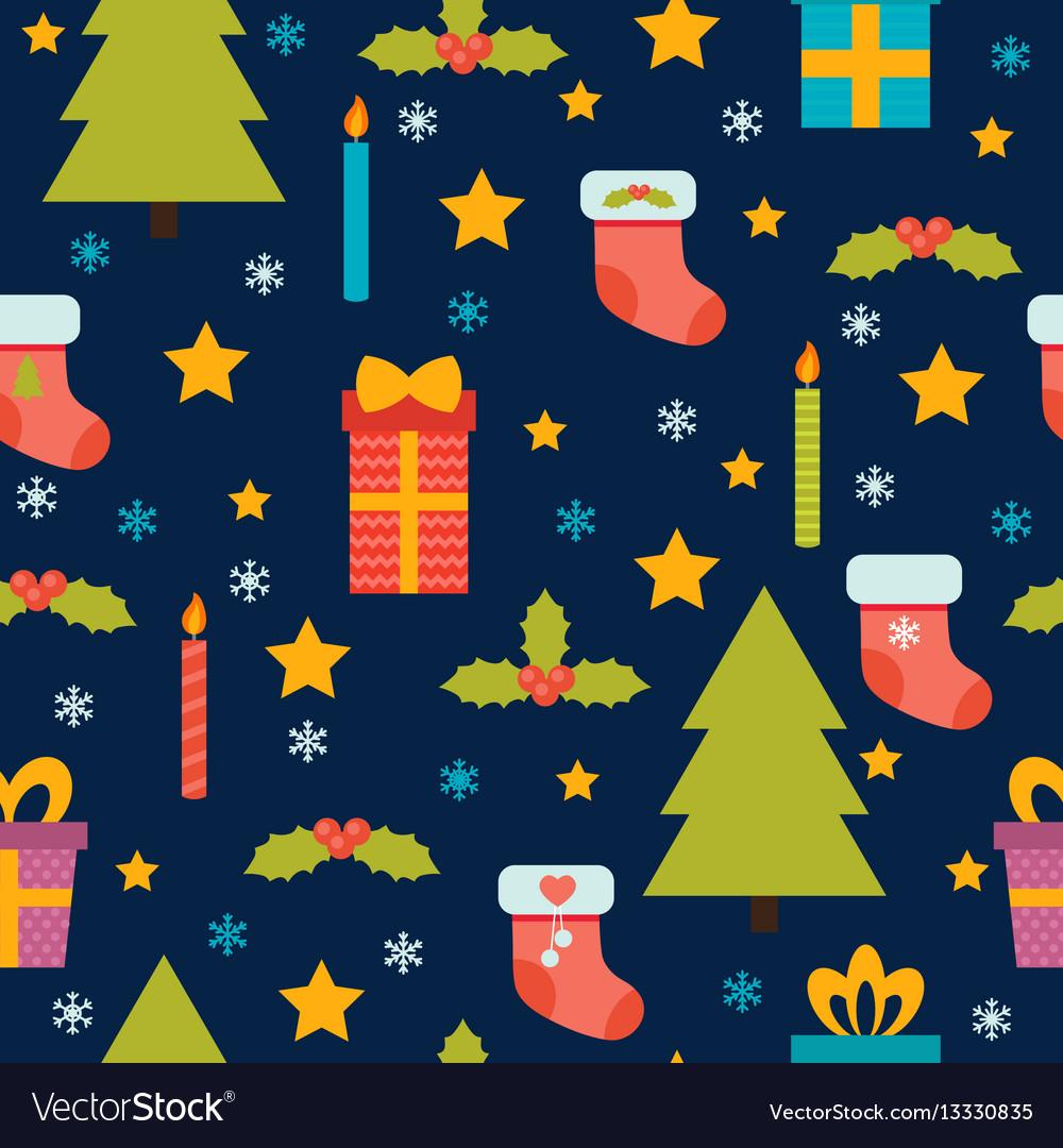 Christmas seamless pattern cute background