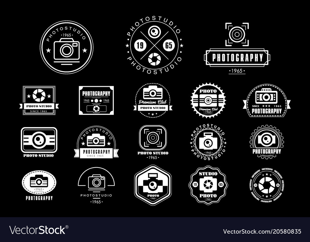 Collection of photography logo templates photo