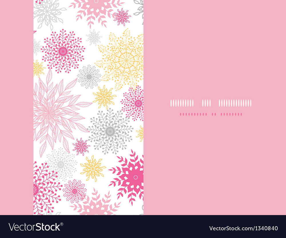 Abstract floral vignettes horizontal seamless vector image