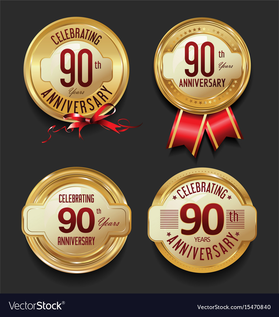 Anniversary retro golden labels collection 90