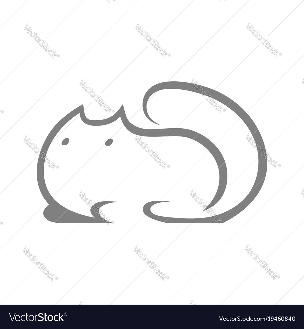 Cute cat symbol icon