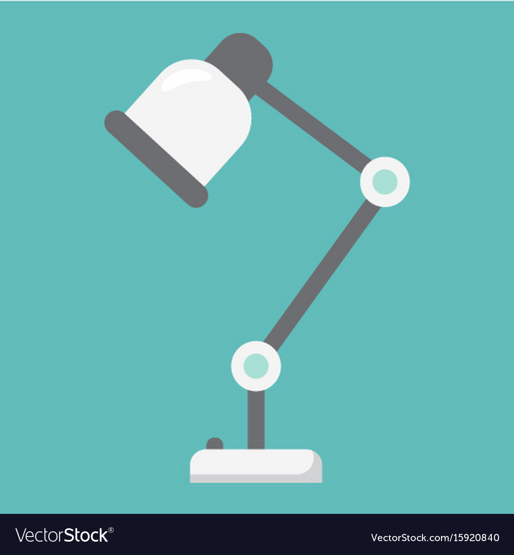 Desk lamp flat icon table lamp and appliance