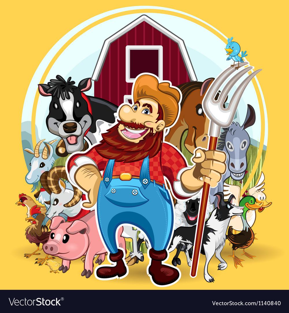 Farm Life vector image