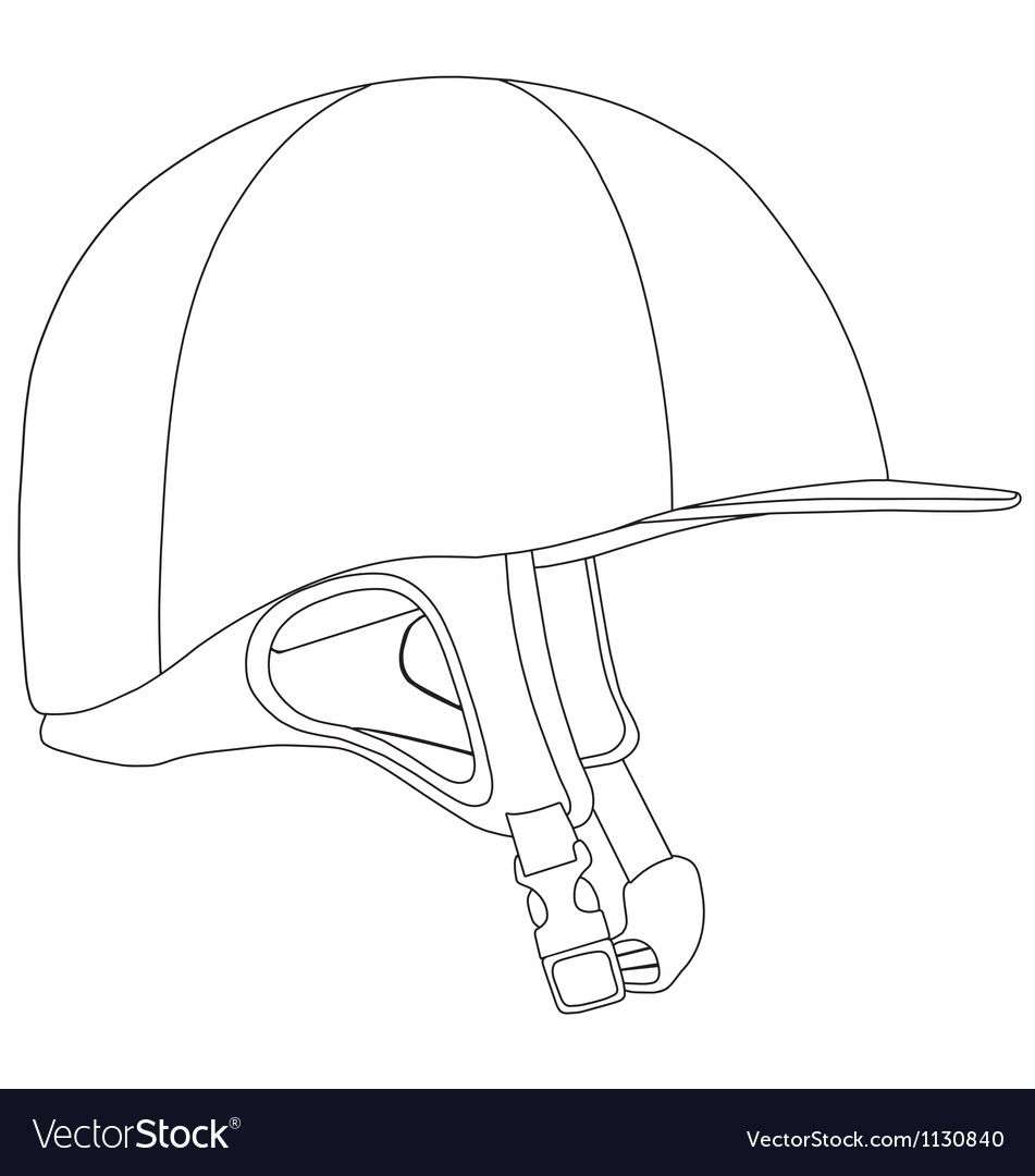 Horse Riding Helmet Royalty Free Vector Image Vectorstock