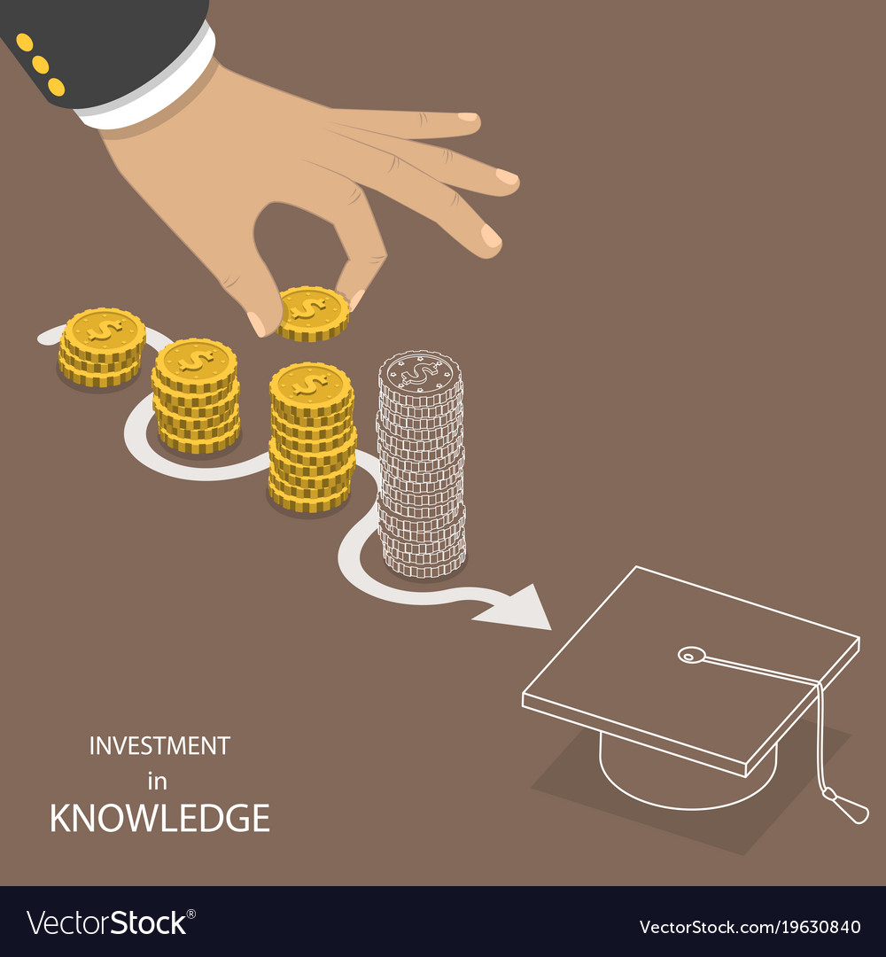 Investment in knowledge flat isometric