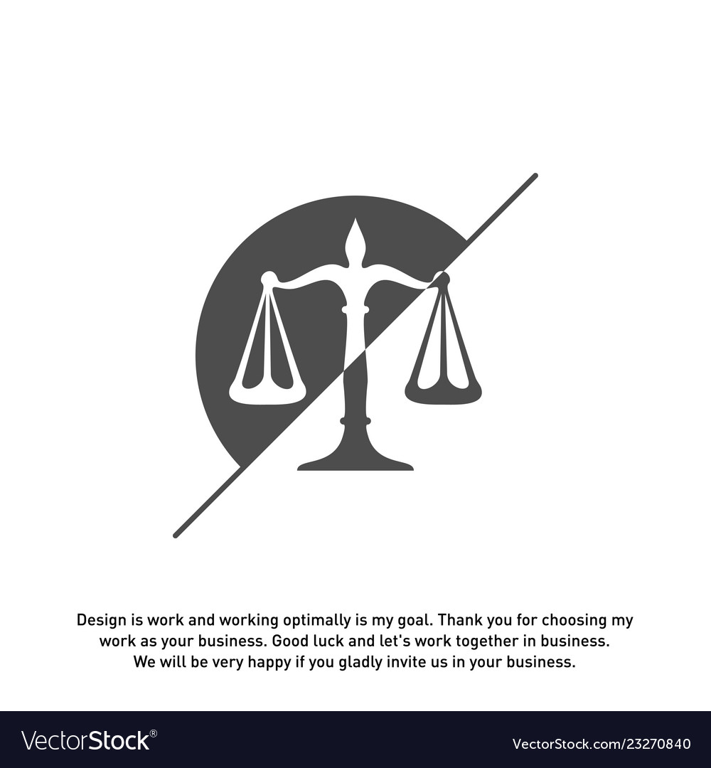 Law firm logo design template scales logo