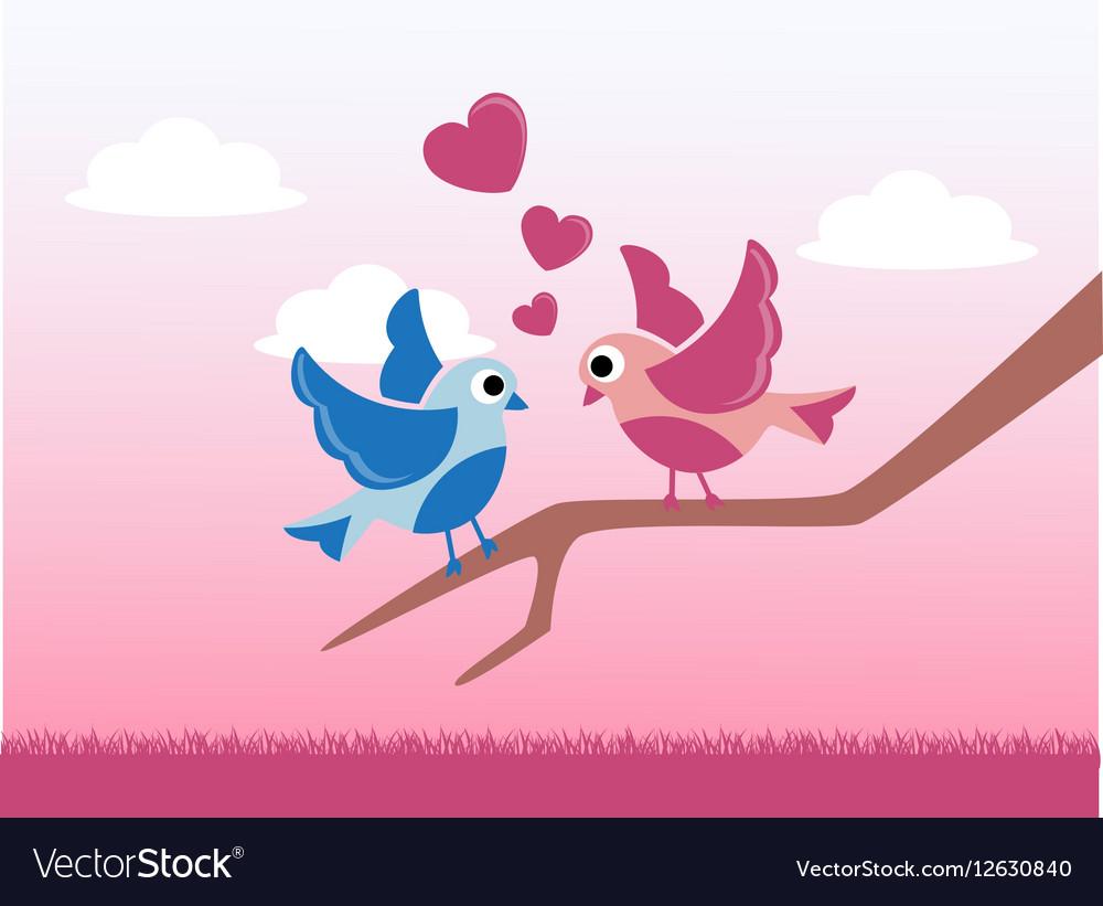 Love birds on Valentines Day