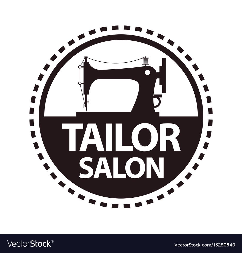 Tailor salon dressmaker atelier or shop vector image