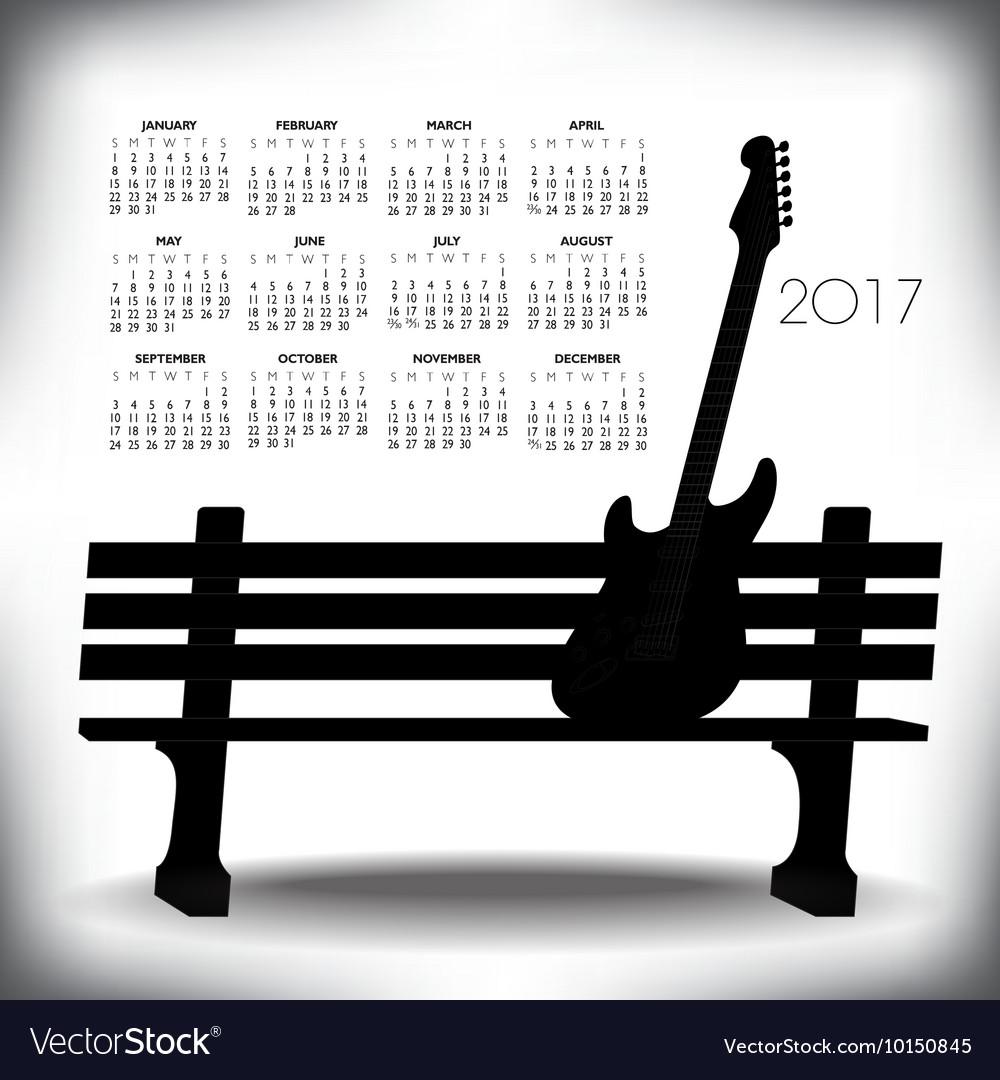 2017 Creative guitar calendar