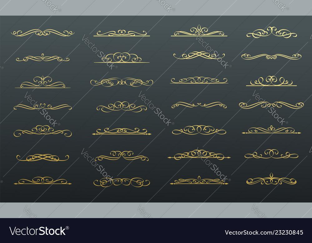 Calligraphic swirls dividers