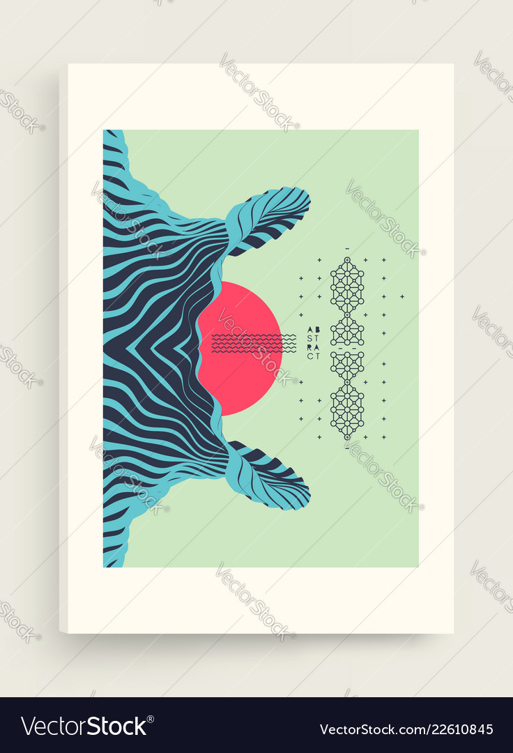 Cover design template pattern with optical