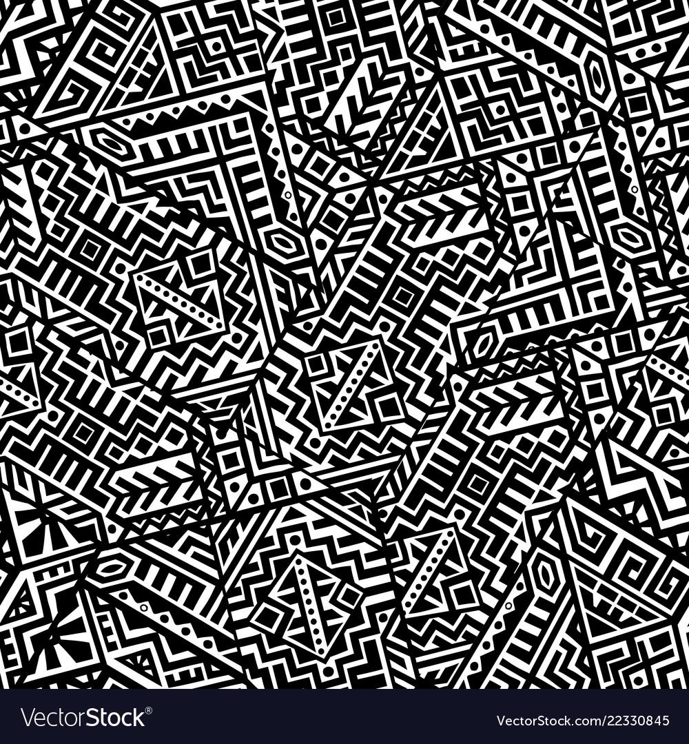 Creative geometric seamless pattern