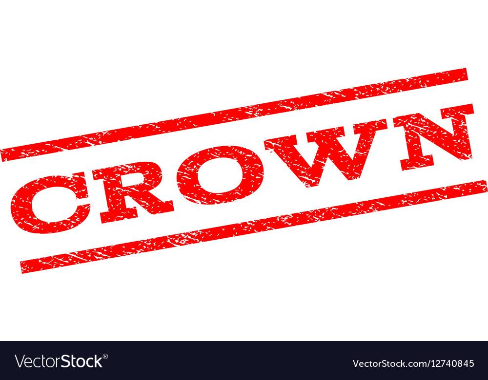 Crown Watermark Stamp vector image
