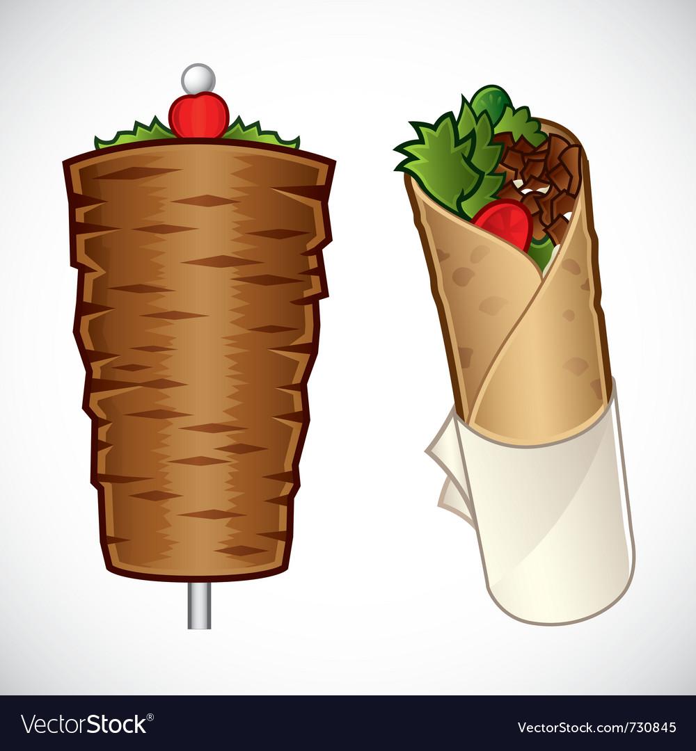 Doner kebab vector image