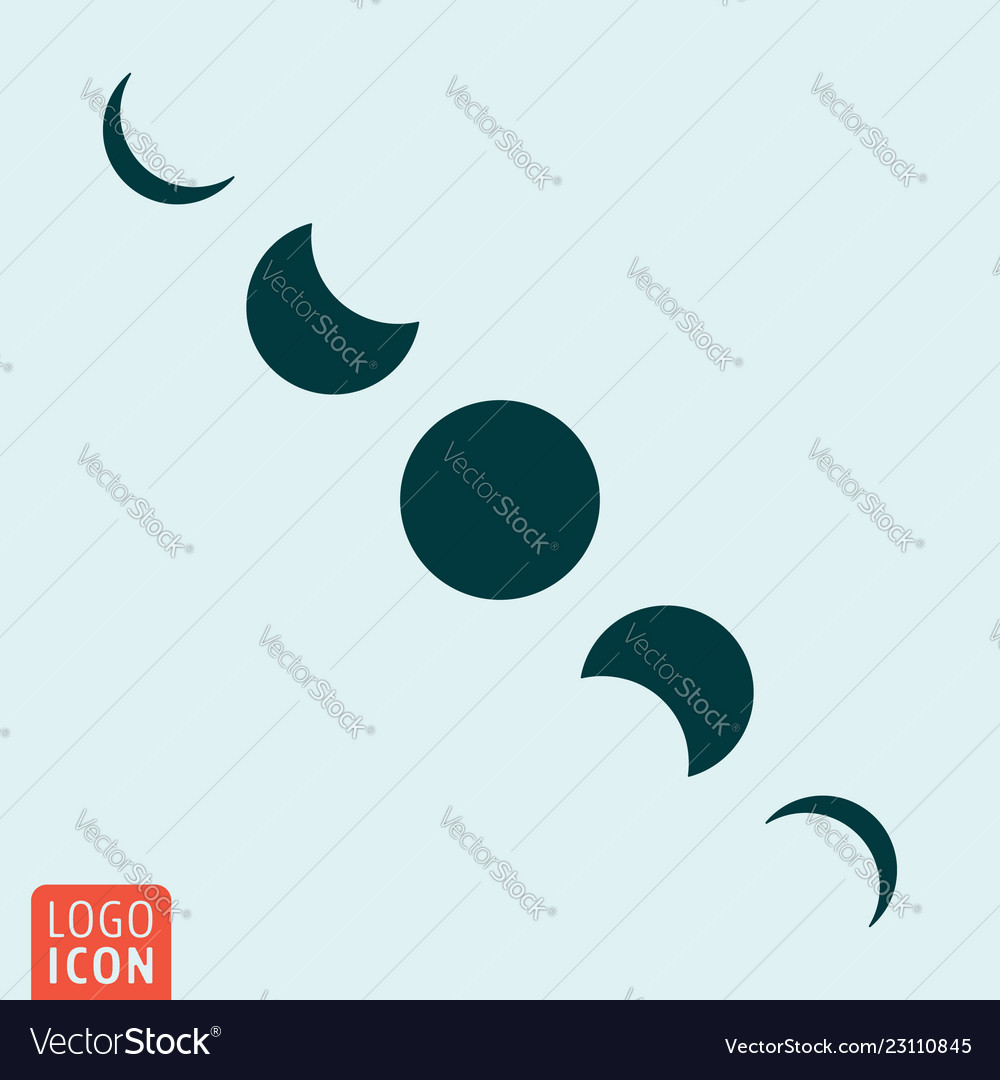 Moon cycles symbol - lunar phases icon