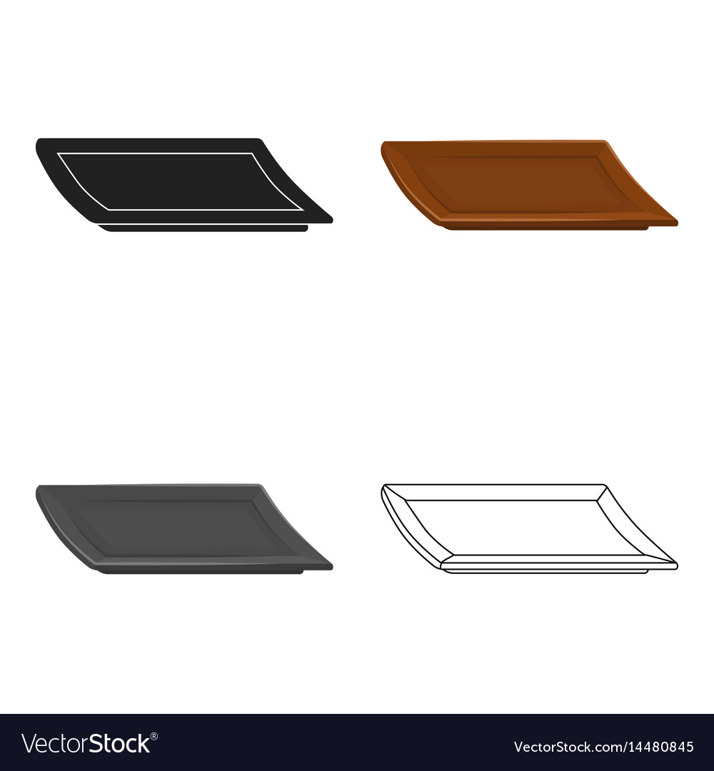 Plate icon in cartoon style isolated on white
