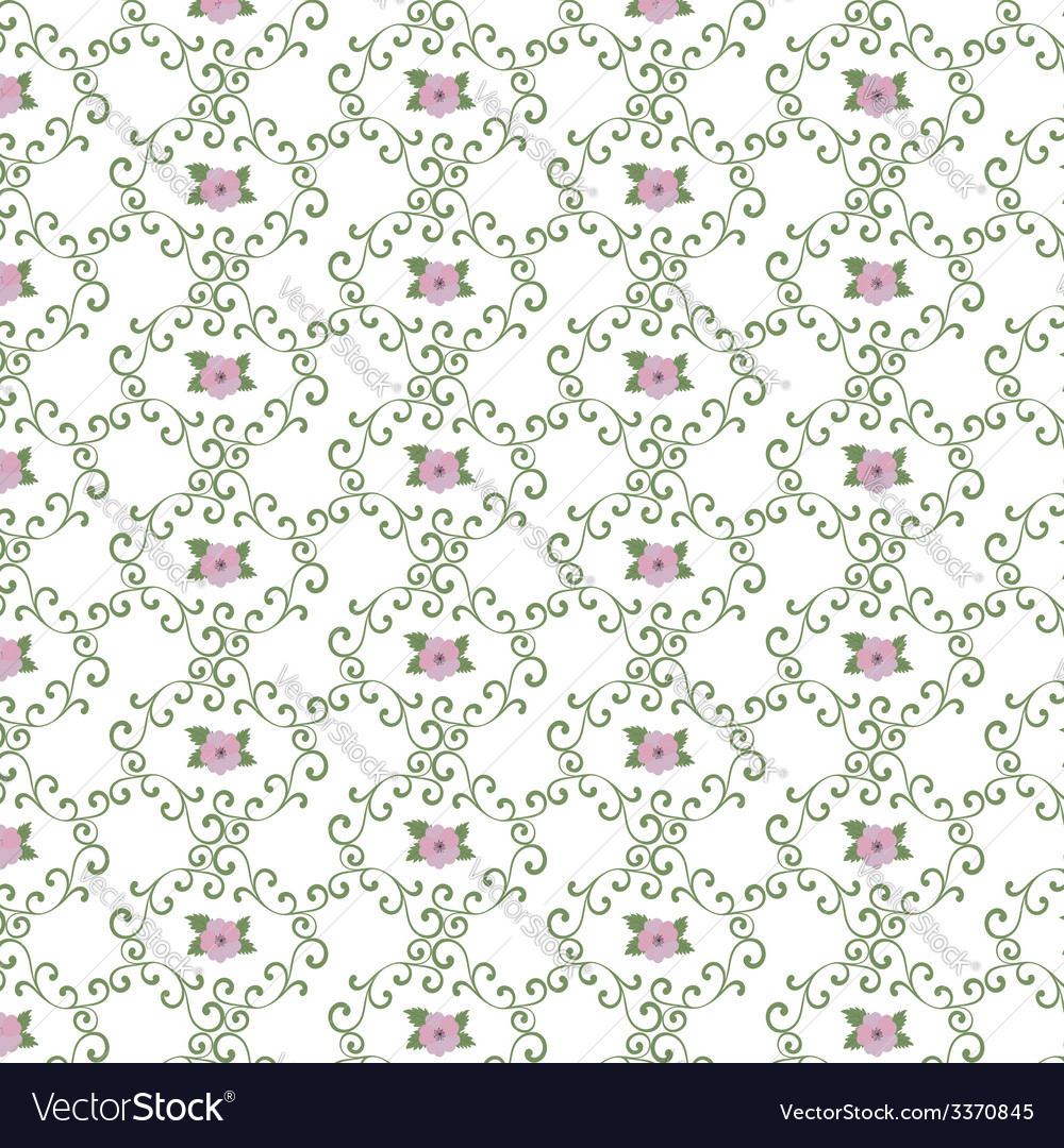 Seamless curly vintage background wallpaper