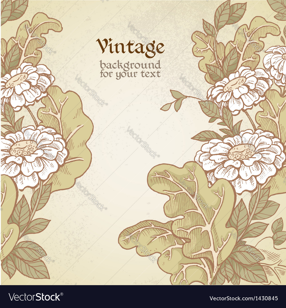 Vintage color background with wild meadow flowers