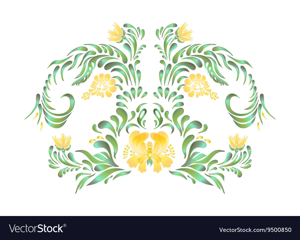 Beautiful border with yellow flowers