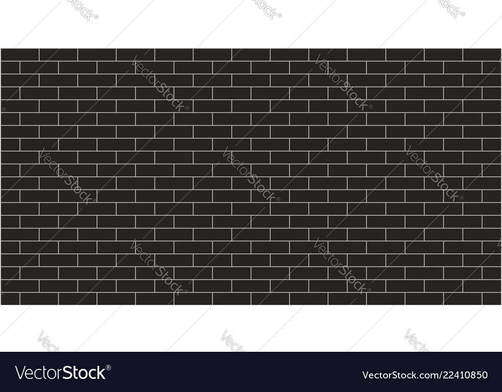 Black Brick Wall Texture Graphic Design Royalty Free Vector