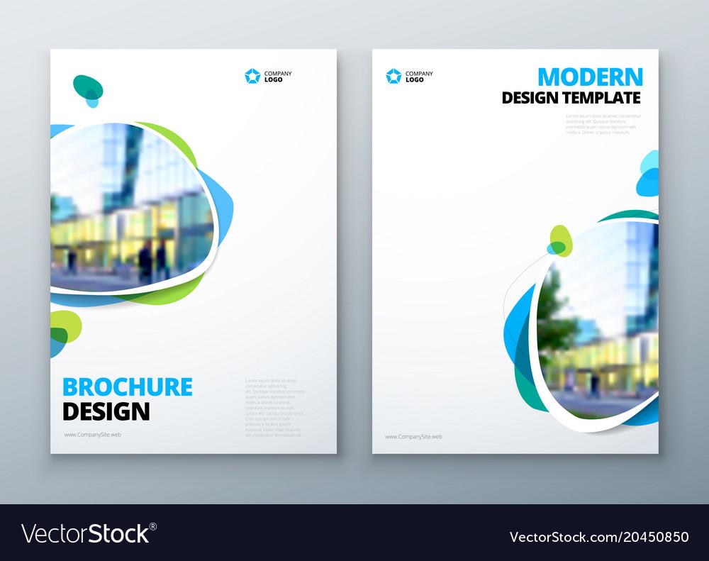 Brochure Template Layout Design Corporate Vector Image - Brochure template designs