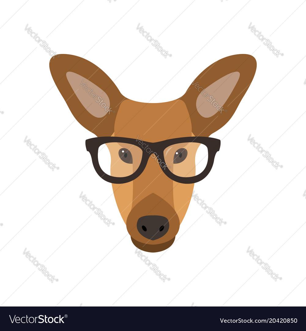 52dce5fa7e0 Deer female in glasses cute doe Royalty Free Vector Image