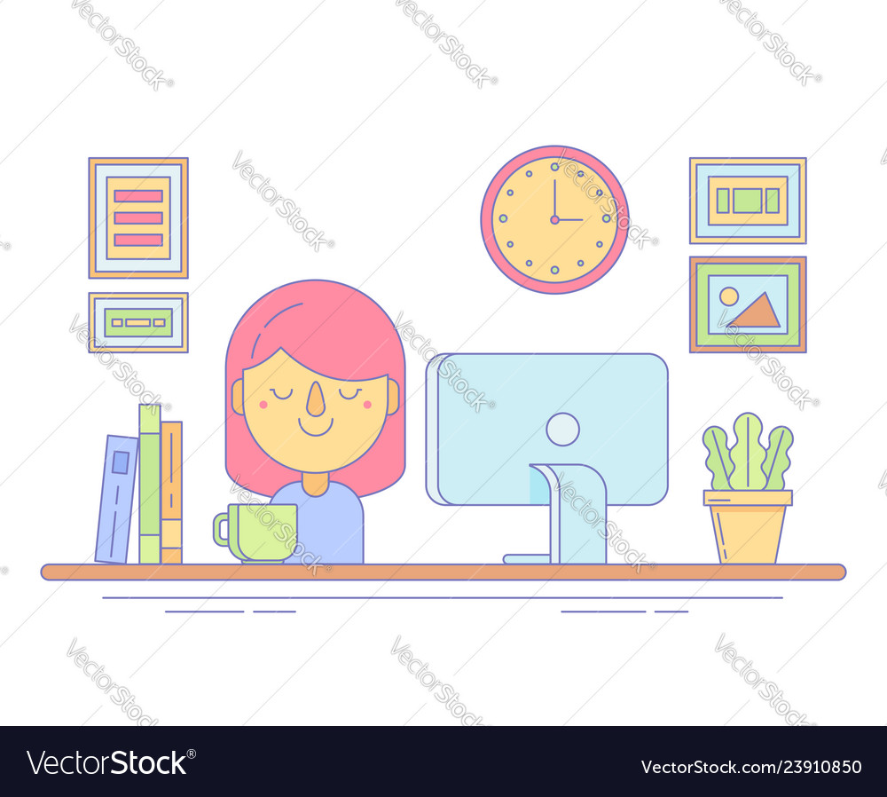Office worker icon for business