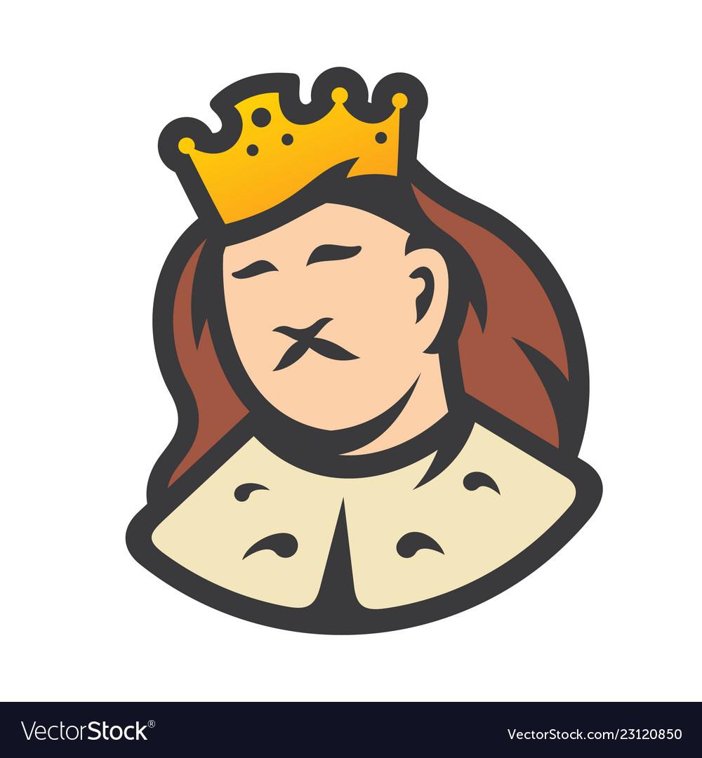 Royal king head sign