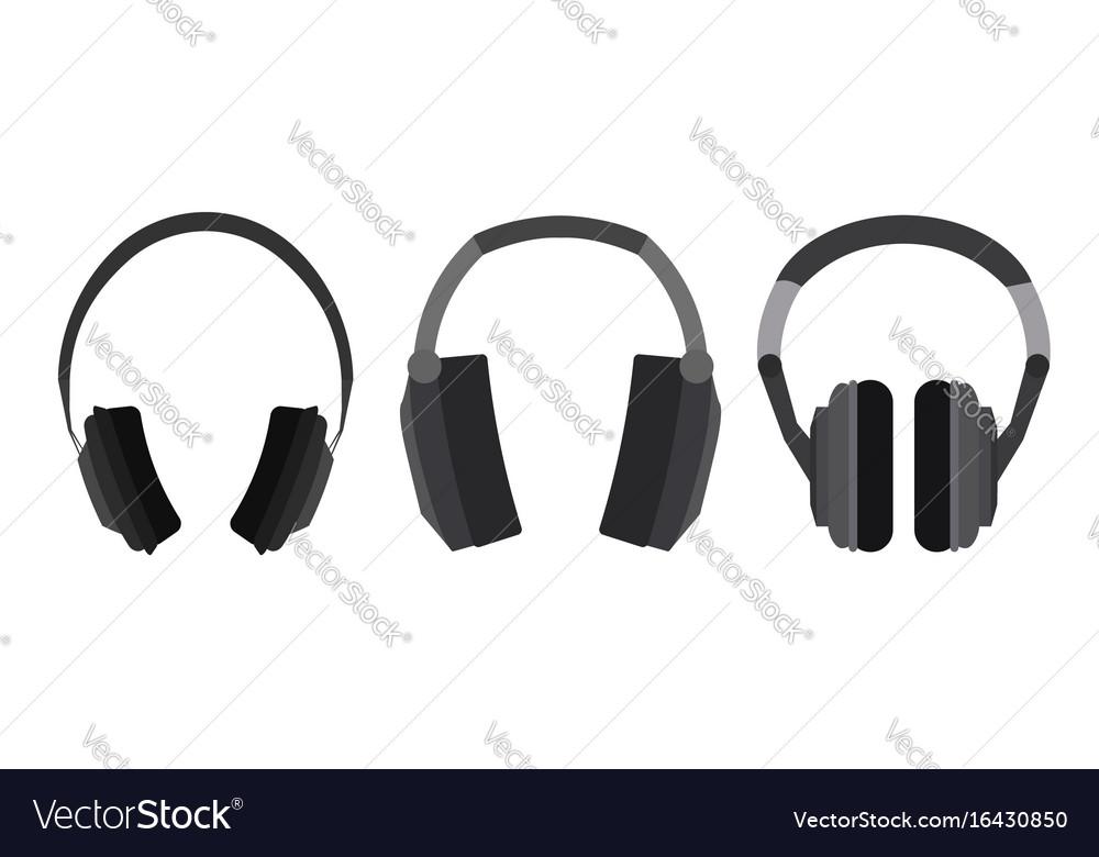 Set of flat headphone
