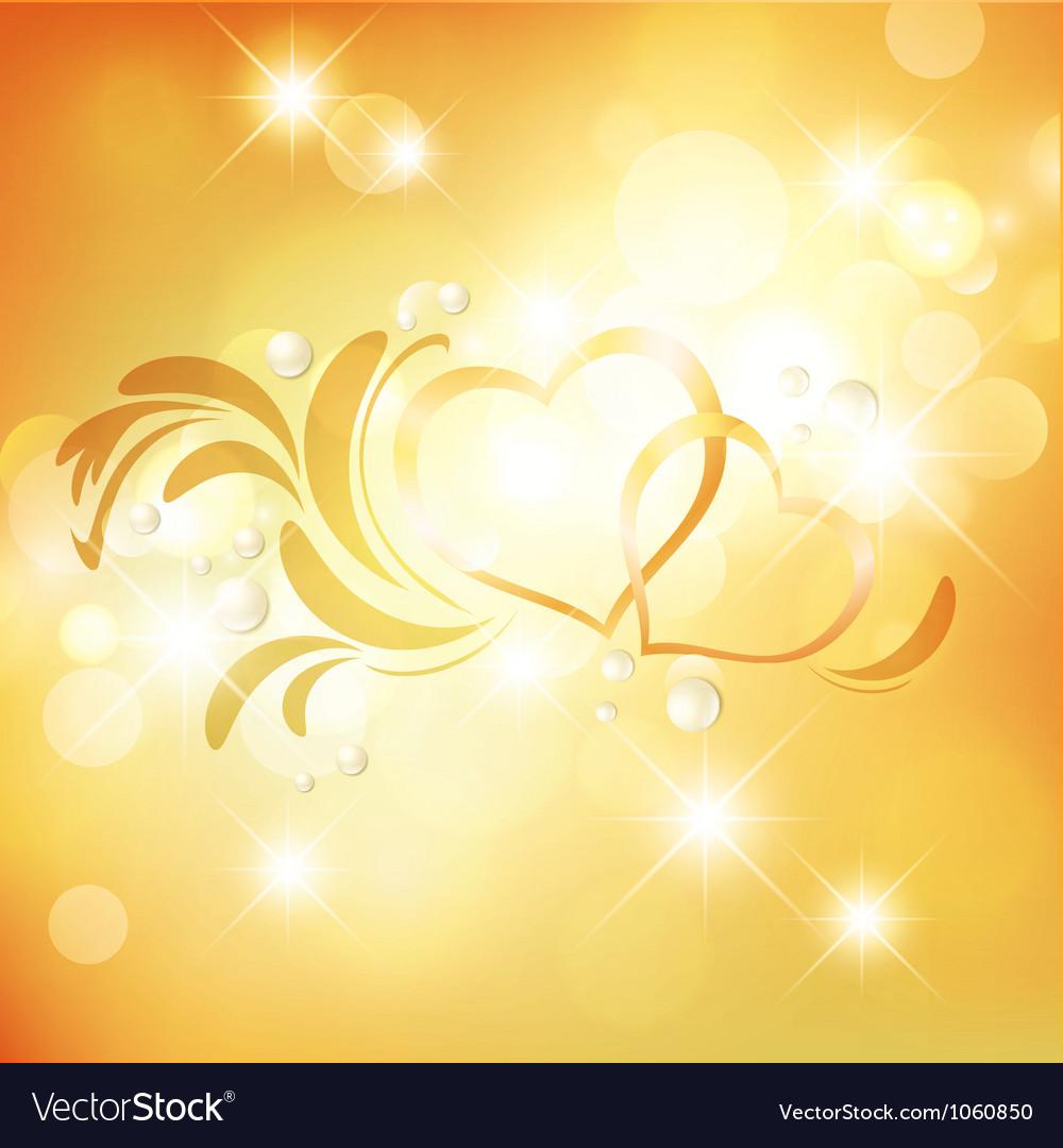 Valentine Golden Background