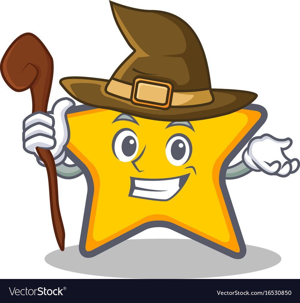 Witch star character cartoon style