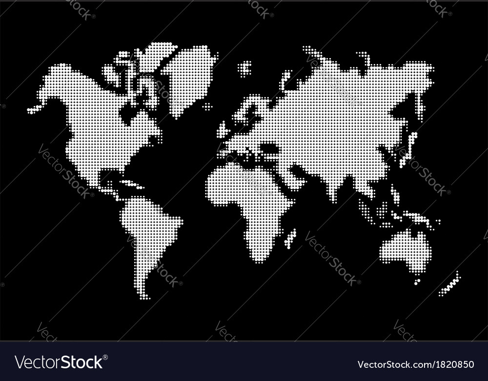 World map white dots atlas composition eps10 file vector image publicscrutiny Gallery