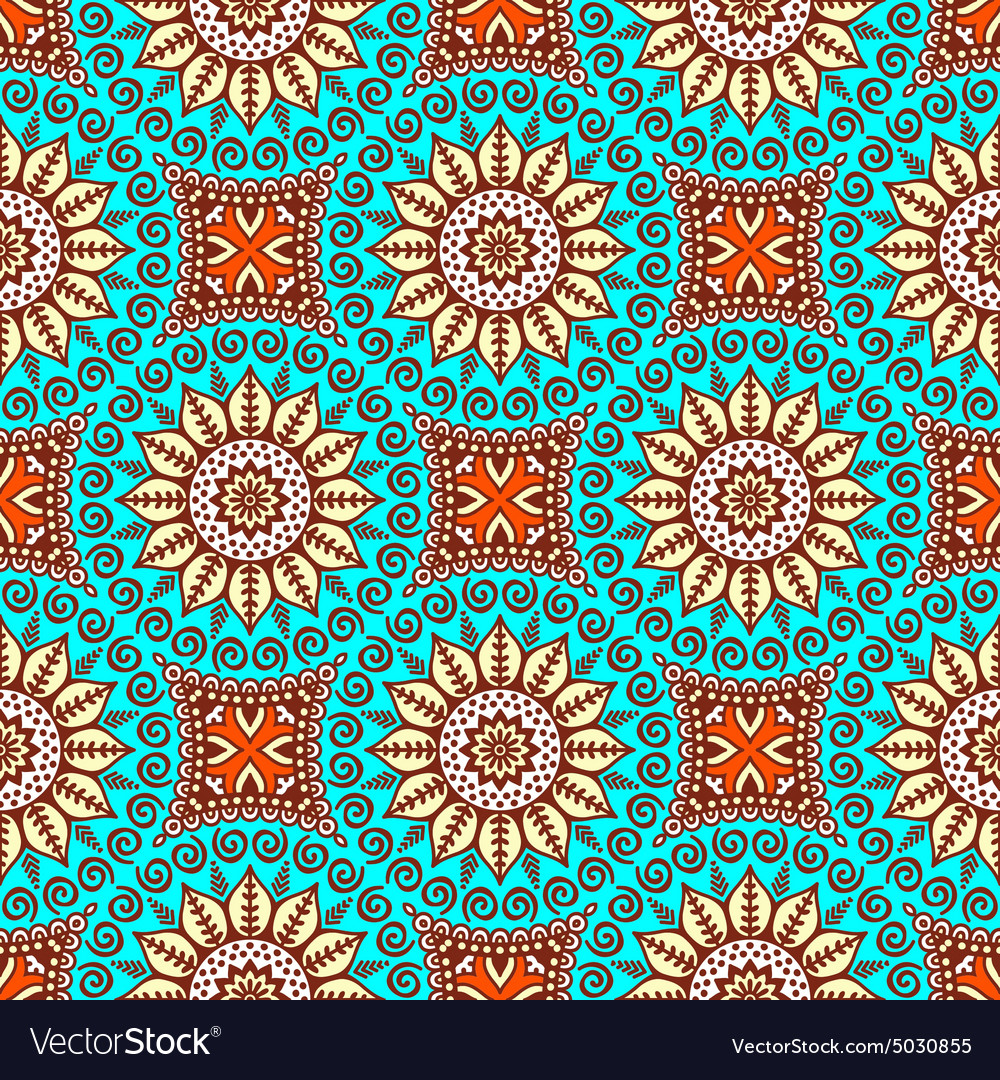 Abstract ethnic background seamless pattern