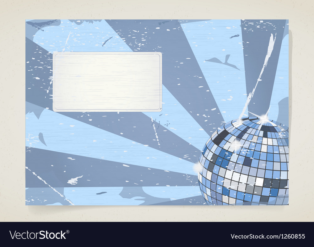 Disco grunge card vector image