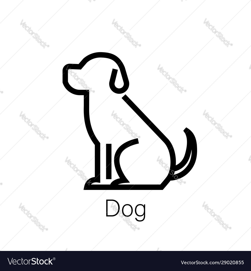 Dog line icon linear concept sign or logo element