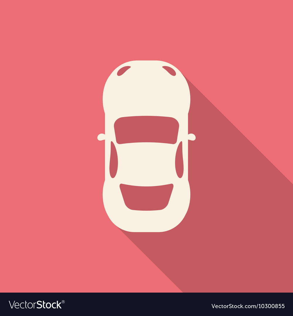 Flat design modern of Car Icon with long shadow