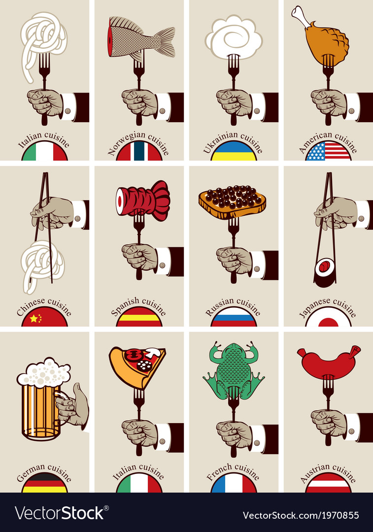 International cuisine vector image