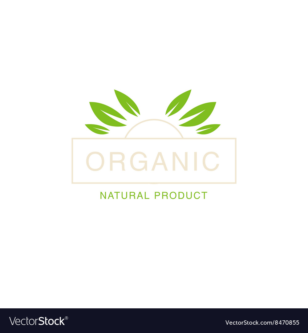 Leaf Crown Organic Product Logo vector image