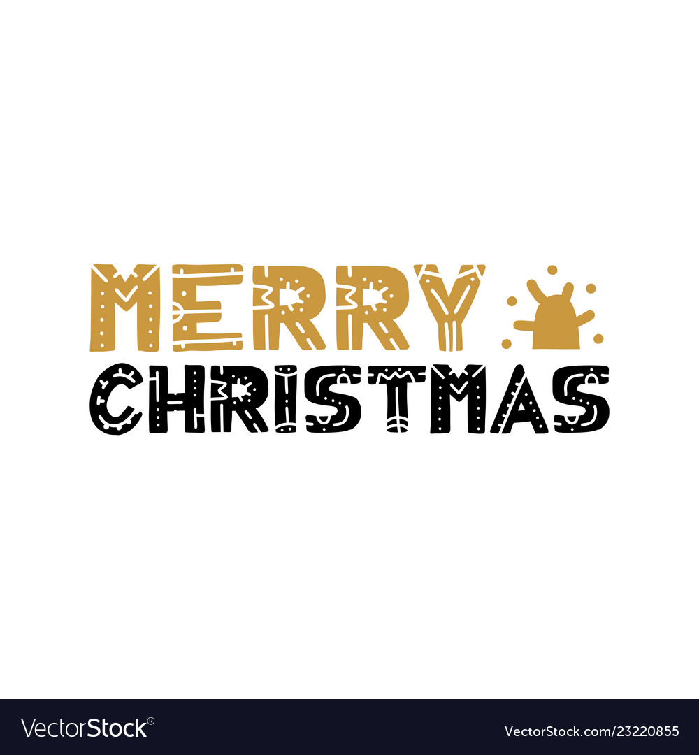 Merry christmas text design logo typography