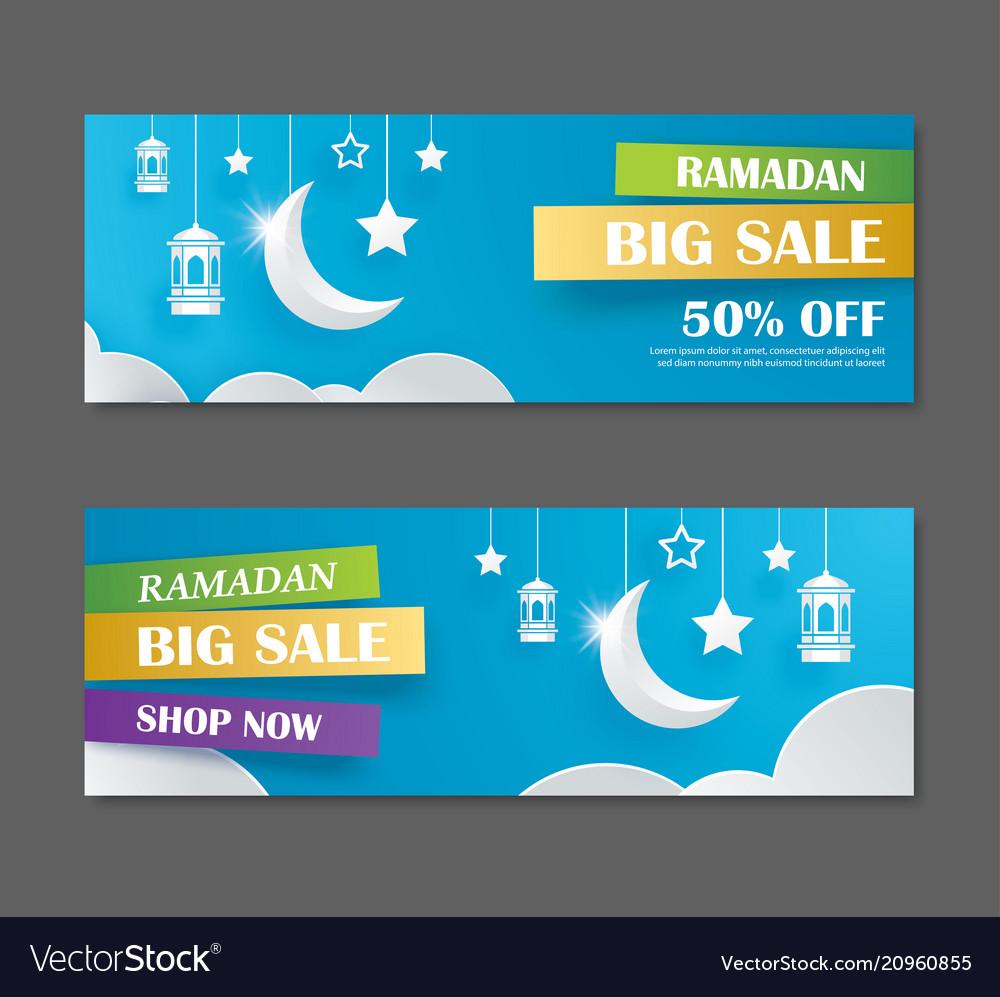 Ramadan kareem big sale banner design with