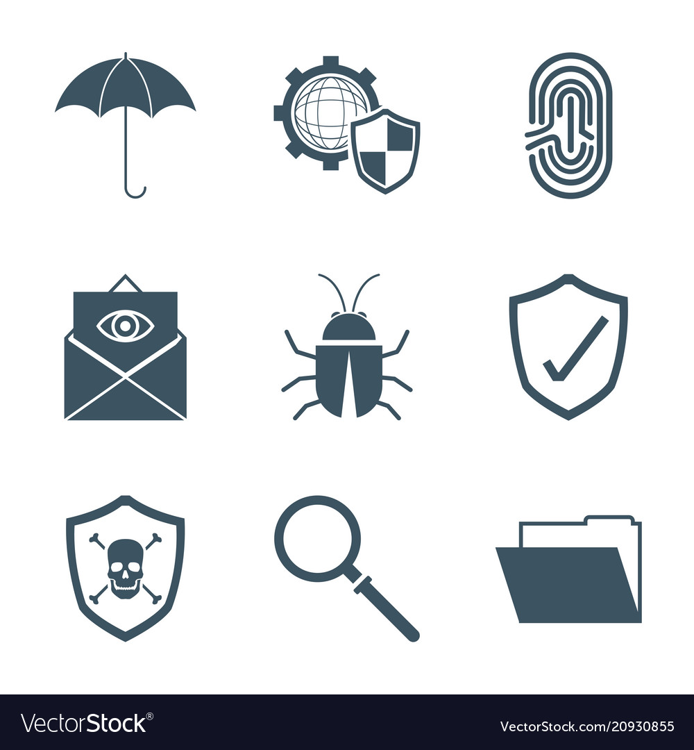 Set Of Security System Symbols Royalty Free Vector Image