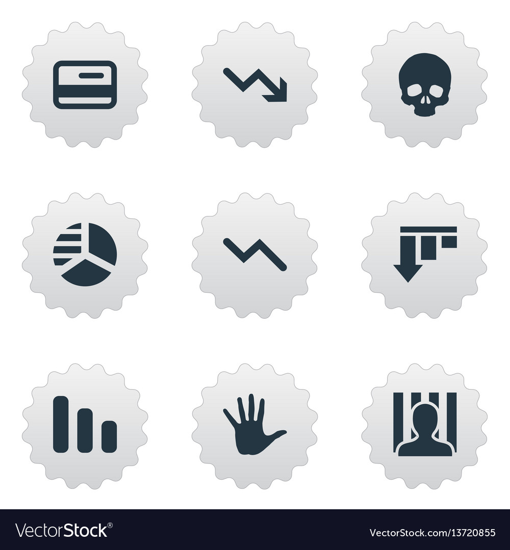 Set of simple trouble icons
