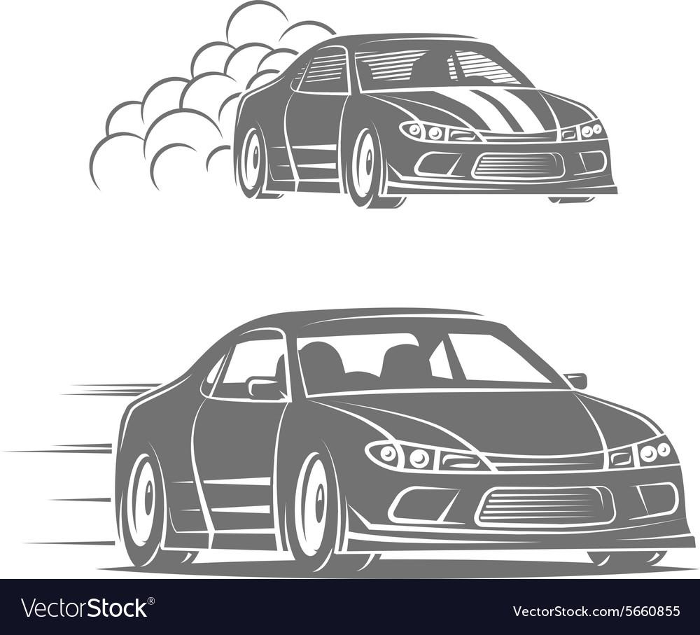 Sport car logo design Street racing